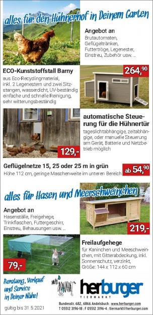 Frühlings-Powerpreise für die Kleintierhaltung!