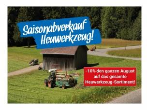 Abverkauf Heuwerkzeug! -10%